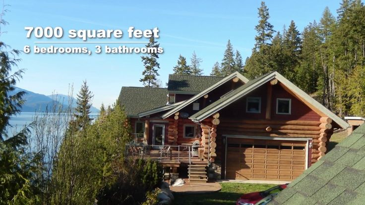 2 luxury log homes for sale on 27 Acres | Pristine Waterfront | Kootenay...