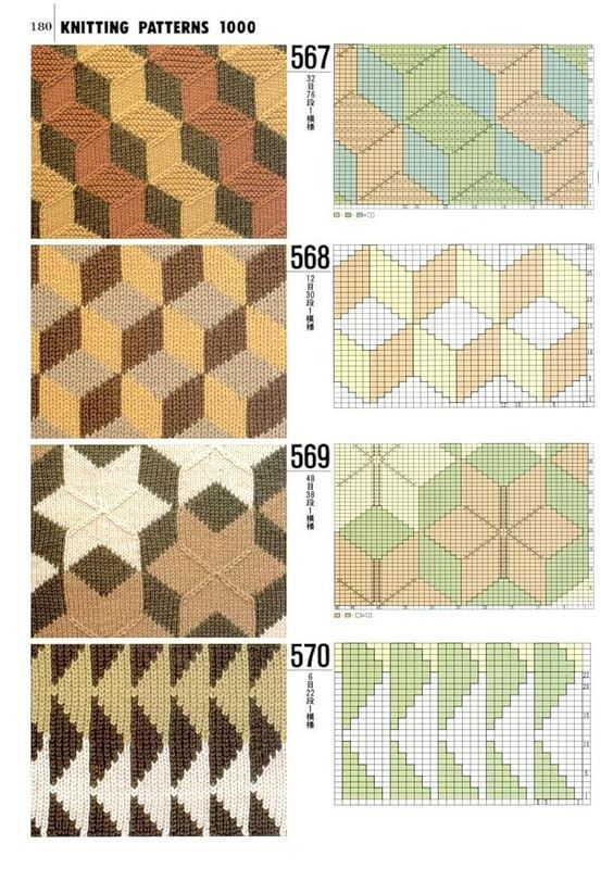 ::knitting patterns that could be use for cross stitch::
