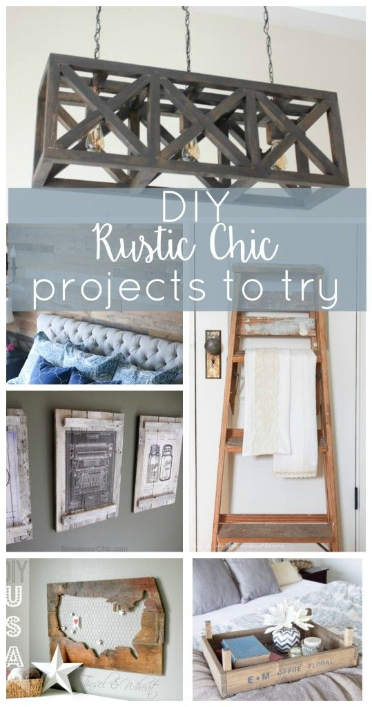 This roundup of amazing DIY rustic chic projects will give your home a dose of farmhouse charm in no time!