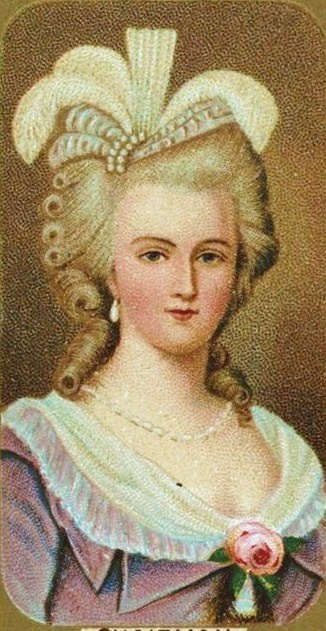 Marie-Antoinette this is the first picture I've seen of her where she actually looks pretty.