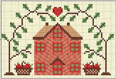 Cross Stitch World: CROSS STITCH:_ 11 Houses
