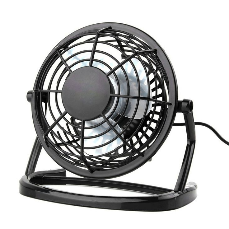Ultra Quiet Mini 4 inch USB Fans Plastic Portable Small Desk Fan Powerful Wind For PC/Laptop/Notebook Popular In Summer #Affiliate