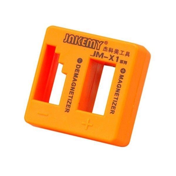JAKEMY Desmagnetizador magnetizador JM-X1 para acero Destornillador Cuchillas Pinzas Herramientas de mano Metal herramientas