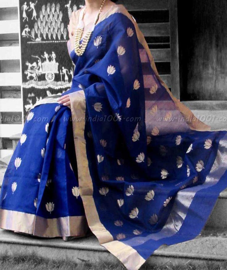 Designer Handcrafted Woven Chanderi Saree