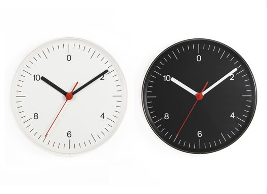 Wall all clock with black or white face. 2008. Produced by Muji, Japan | Jasper Morrison