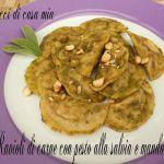 Ravioli+di+carne+con+pesto+alla+salvia+e+mandorle