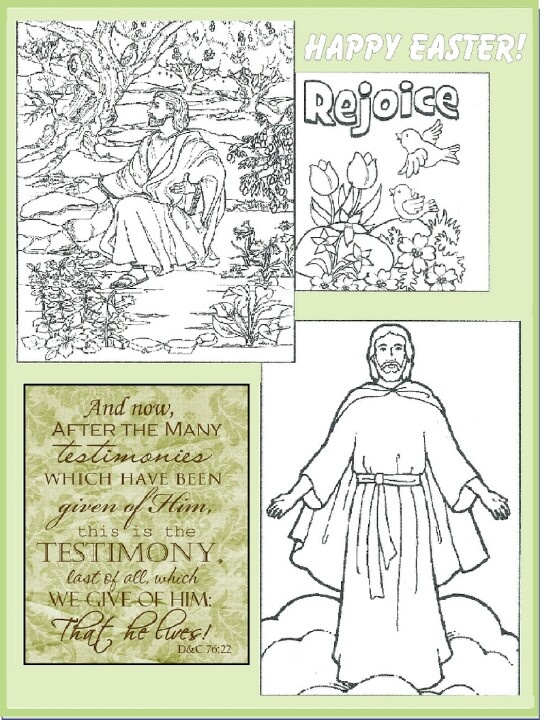 LDS Easter Coloring Page Primary Newsletter Ideas