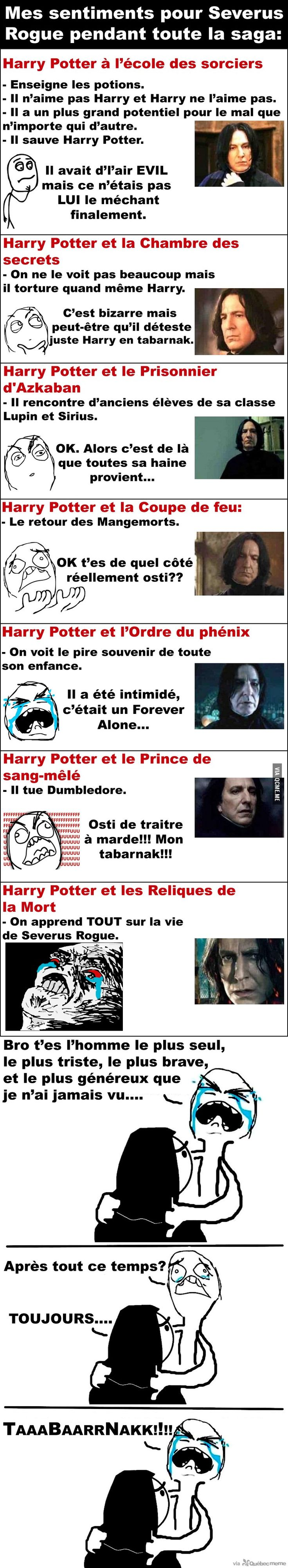 Mes sentiments pour Severus Rogue Plus