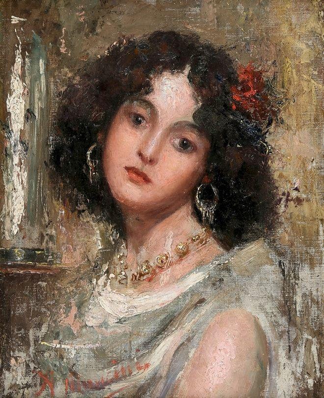 Художник Antonio Mancini (1852 – 1930)