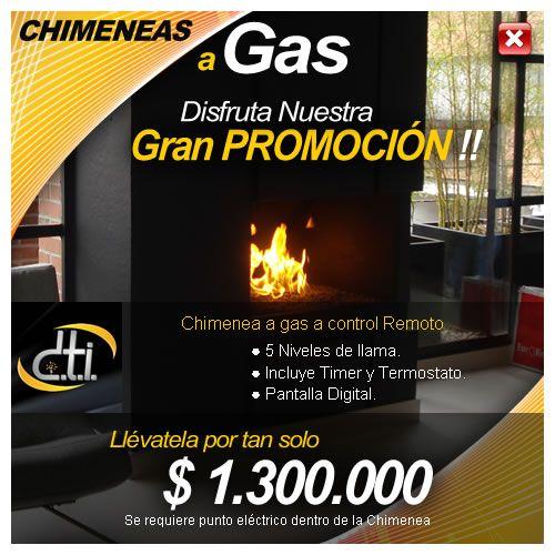 http://www.dticolombia.com/chimeneas-a-gas/promociones-en-chimeneas  Disfruta Nuestra Gran Promoción en Chimeneas a Gas en Bogotá, D.T.I. Colombia. Tel : (57-1) 8052257 - 8052269