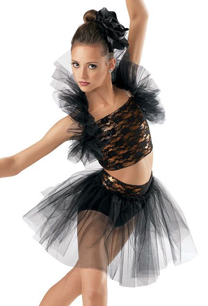 Lace Crop Top and Tulle Skirt -Weissman Costumes