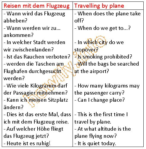 German For Beginners: Travelling by plane