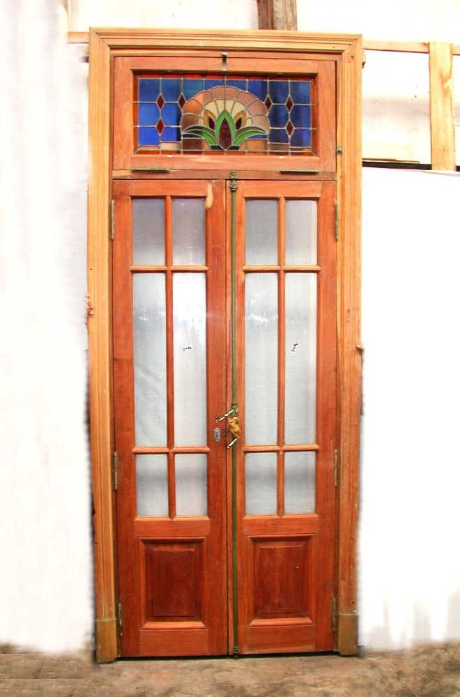Double entry door with stained glass transom  2300 008 best Glass entry doors images on Pinterest   Glass entry doors  . Double Entry Doors With Glass. Home Design Ideas