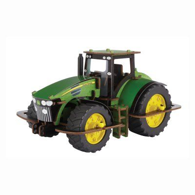 Buildex Build N Play Model 7930 Deluxe John Deere Tractor Building Kit - 12139