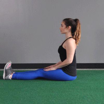 Sitting spinal stretch