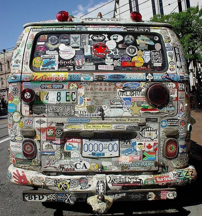 Covered in stickers volkswagen bus ☮ vwbus ☮ pinned by www wfpcc com
