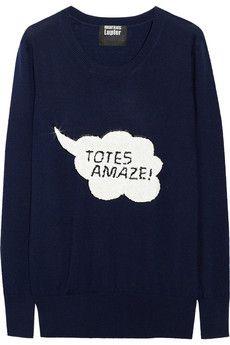 Markus Lupfer Totes Amaze! jumper: Amazing Sweaters, Wool Sweaters, Fashion, Totes Amazing, Jolly Jumpers, Clothing, Lupfer Totes, Lupfer Sweaters, Markus Lupfer