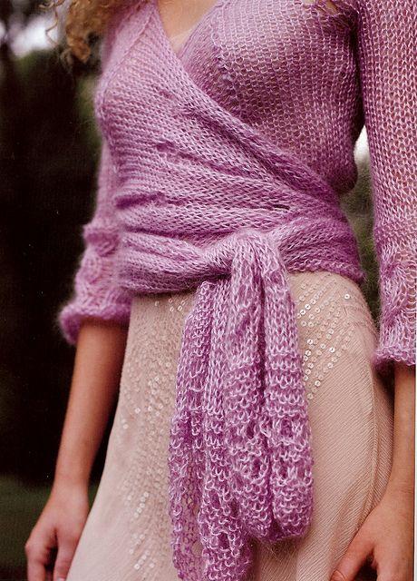 Ravelry: Airy Wrap-Around Lace Sweater pattern by Stefanie Japel