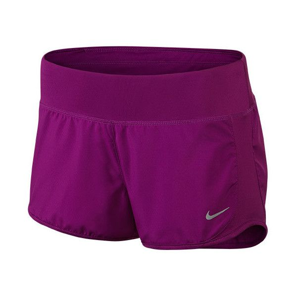 Women's Nike Crew 3 Inch Running Shorts ($24) ❤ liked on Polyvore featuring activewear, activewear shorts, shorts, bottoms, athletic sportswear, nike sportswear, nike activewear and nike