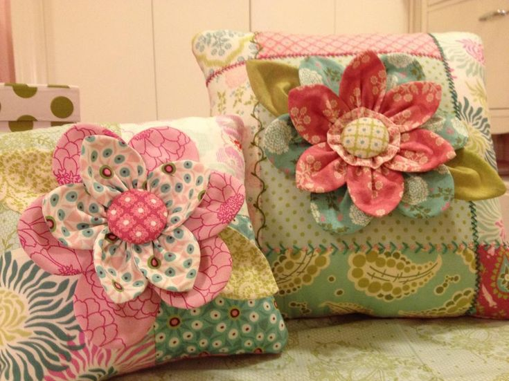 Embroidered Flower Pillow pattern from Back in Bloom | Check out patterns on Craftsy!
