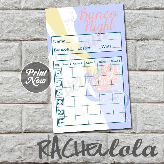 The 25+ best Bunco score sheets ideas on Pinterest Bunco party - bunco score sheets template