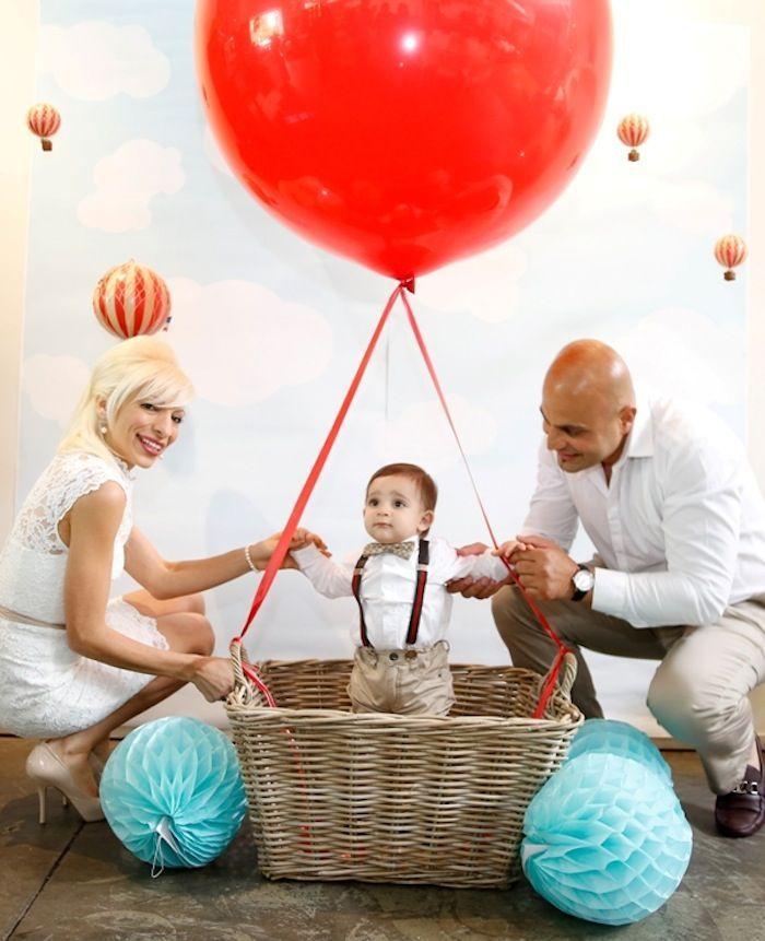 CUTE Up & Away Hot Air Balloon Travel Themed Birthday