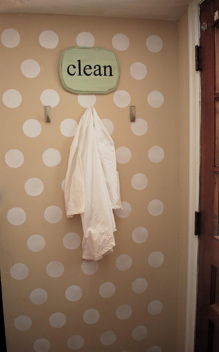vinyl dots!Bathroom Wall, Laundry Room