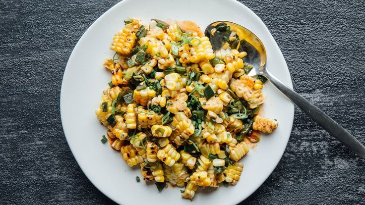 Grilled Corn and Poblano Chile Salad   Bon Appetit