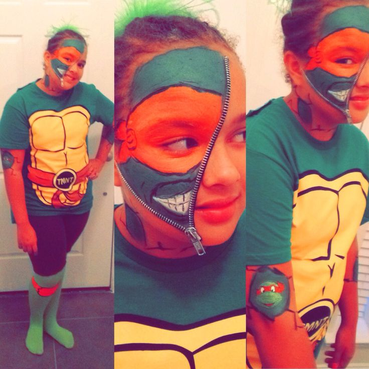 Zipper Face Ninja Turtle #ZipperFace #Zipper #NinjaTurtle #Halloween # Costume #Makeup  sc 1 st  Pinterest : zipper face halloween costumes  - Germanpascual.Com