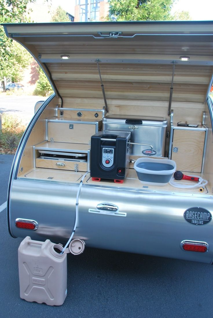 High camp teardrop trailers on demand hot water heater