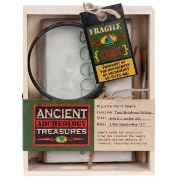 Ancient Treasures Excavation Set - White Apple Gifts