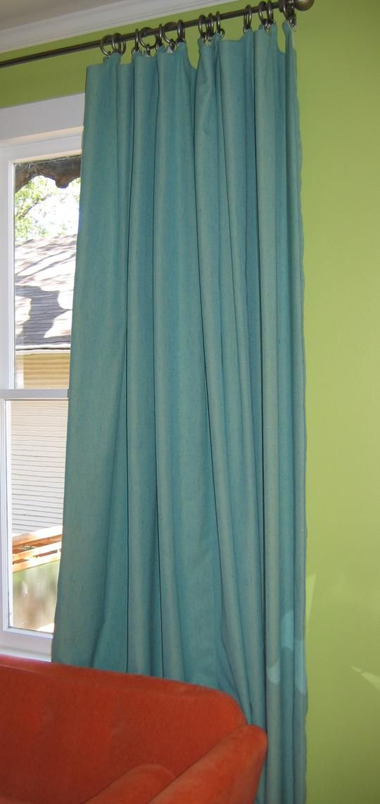 how to measure and choose window treatments | Hardware should be installed three to five inches off each corner of the window frame. No matter where the hardware is mounted, make sure the panels will hang at the desired level. Longer drapery panels should skim the floor and less formal curtains can be slightly longer than the window ledge.