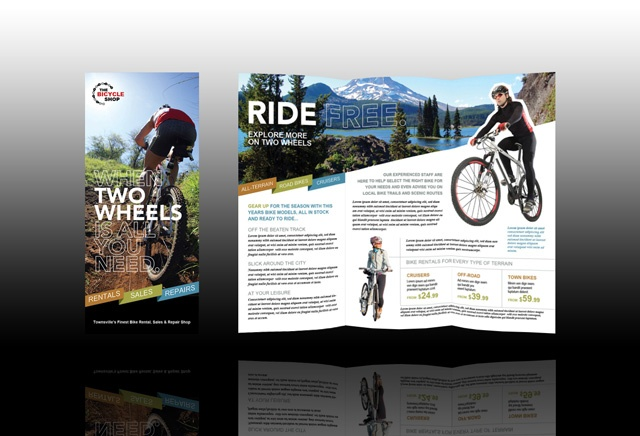 Bike Brochure Front And Back Layout  Bike Project
