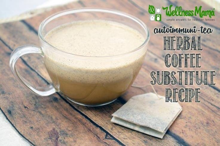 This autoimmune-safe herbal coffee substitute recipe uses herbal tea and natural sources of protein and healthy fats for an energy boost without caffeine.