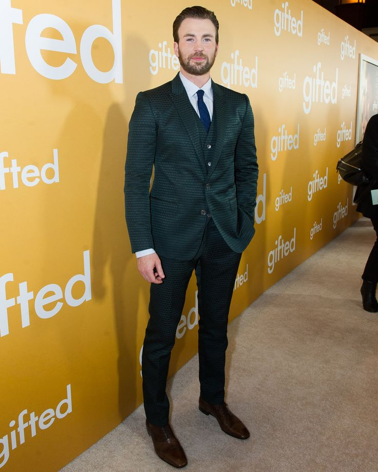 Chris Evans wearing Dolce&Gabbana at the 'Gifted' premiere in Los Angeles, CA on April 4, 2017. #DGCelebs