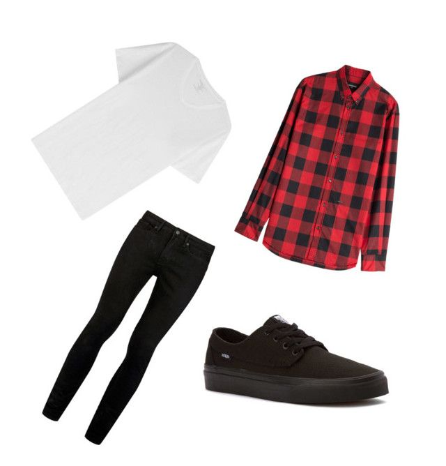 """""""Luke Hemming's starter pack"""" by christynamorah on Polyvore featuring Dsquared2, Majestic, Topman, Vans, men's fashion and menswear"""