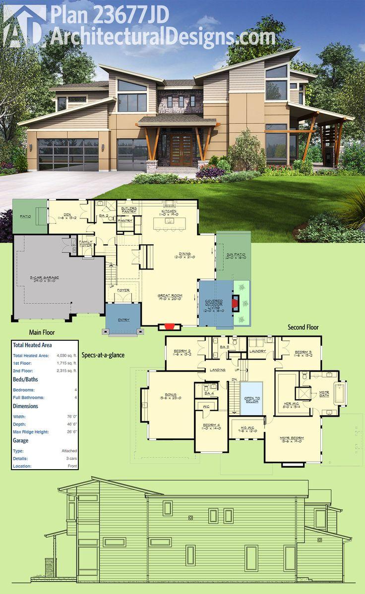 208 Best Modern House Plans Images On Pinterest Modern