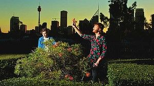 Byron Woolfrey (right) and Christopher Thomas from Trolley'd foraging for plants to be used for their  cockyails.
