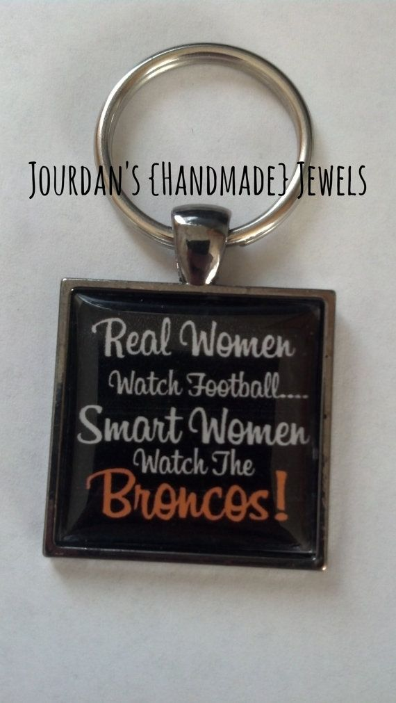 Real Smart Women NFL Broncos Football Pendant Tray Necklace or Keychain on Etsy, $10.00
