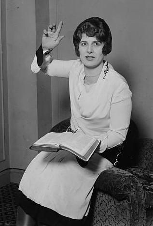 Aimee Semple McPherson She founded the Foursquare Church. McPherson has been noted as a pioneer in the use of modern media, especially radio, and was the second woman to be granted a broadcast license.