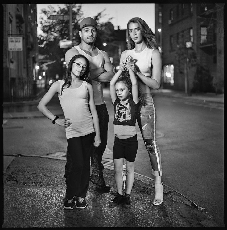 "In his new body of work, Mark Seliger, who is primarily a celebrity photographer, engages with the trans people in his own neighborhood. ""Adrian Torres and Carmen Carrera"", gelatin silver print, 36x36 inch, Edition of 7+ 2AP - Von Lintel Gallery"