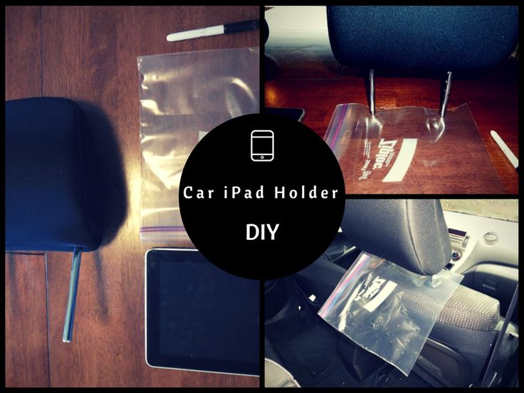 DIY Car Ipad Holder for less a dollar   Dads Who Diaper #DIY