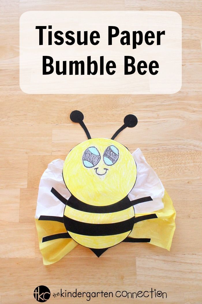 Tissue Paper Bumble Bee Bee Crafts For Kids Bee Crafts Crafts