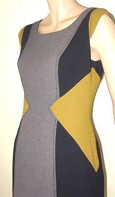 Color block office dress, sleeveless, lined, size 12 $47 via @Shopseen