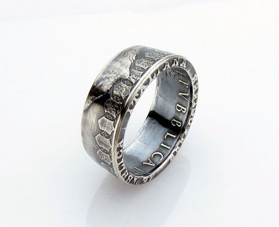 SILVER Italian 500 Lire Caravelle Coin Ring Italia by TCSCustoms