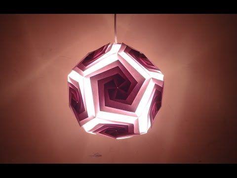 Paper Craft (Diwali Decoration Ideas): Beautiful Pentagonal Lantern - YouTube