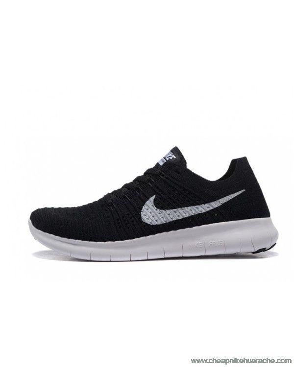 3b27b30713c1 ... Fashion Nike Free RN Flyknit Mens White Black Genuine Sale £55.60 ...