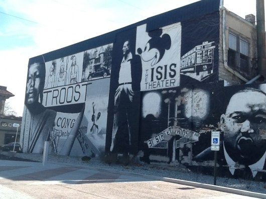 This Mural On Troost Avenue Presents Images Of Kansas City S History Walt Disney Mickey Mouse