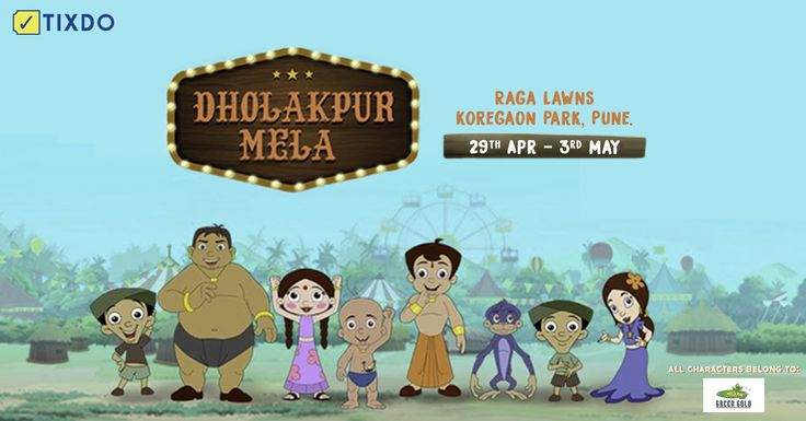 A unique opportunity for your kids to meet #ChootaBheem and his #Friends. Book Now to have a fun weekend the #Dholakpur way!