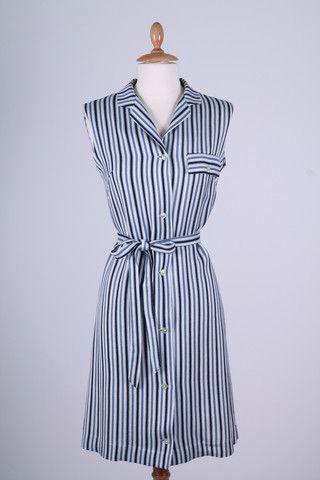 Stribet sommerkjole 1960. S